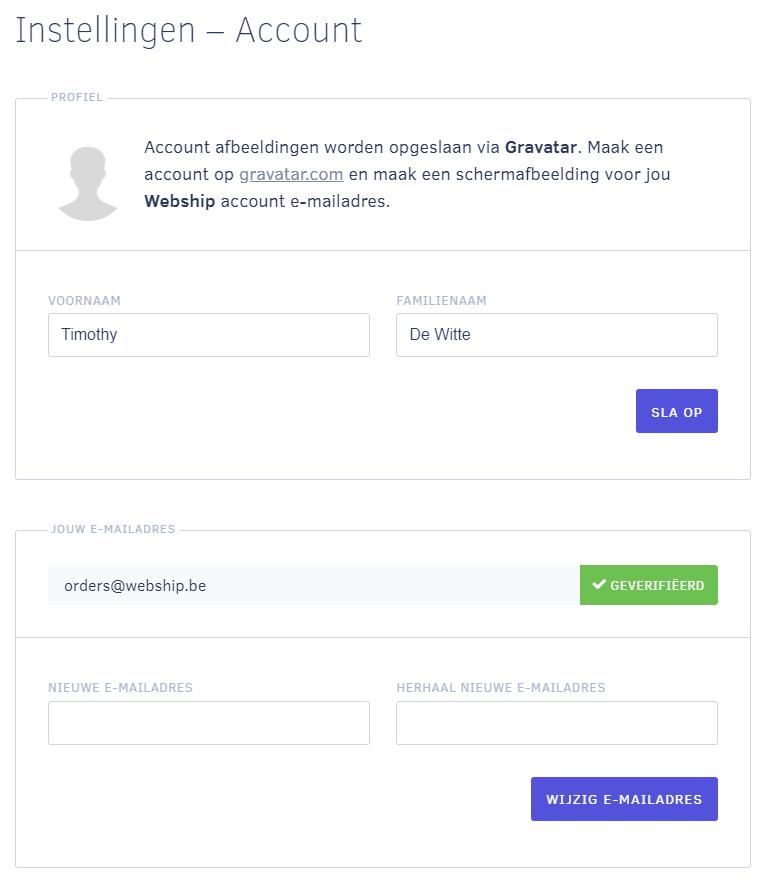 Account Webship Online